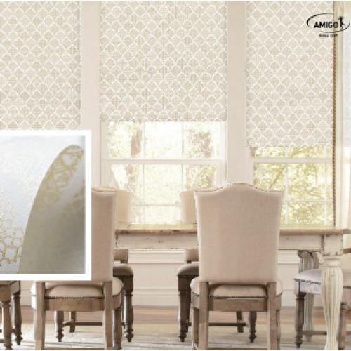 Выбрать рулонные ткани с рисунками в разных стилях.
