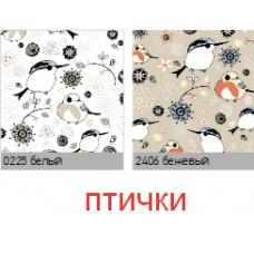 Птички. рулонная ткань с рисунком